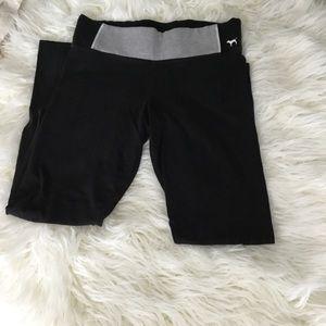 Pink (VS) black and gray yoga pants size M